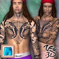 Tattoos Pack3 for CLOTHIM